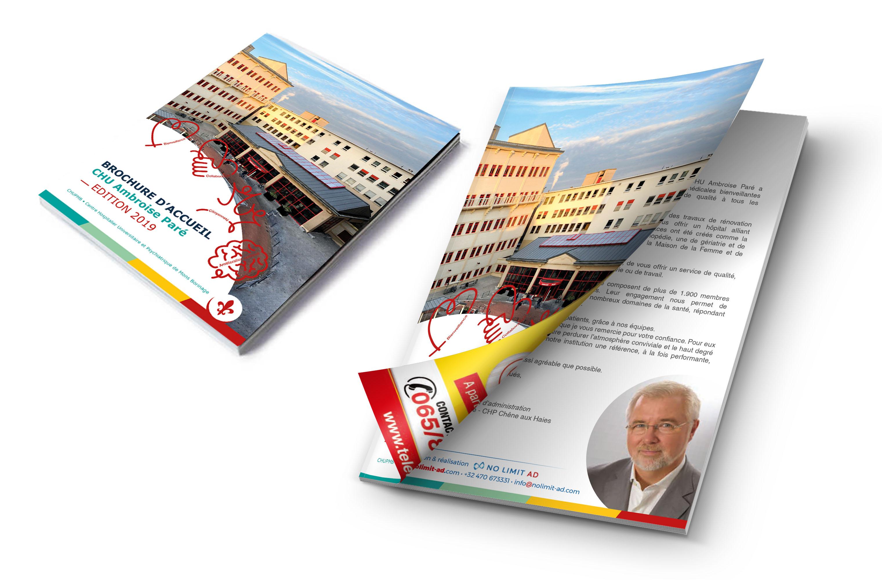 Réalisation et impression des brochures d'accueil pour le CHU Ambroise Paré