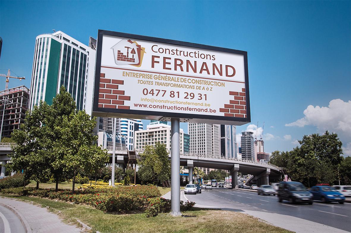 Création d'enseigne pour Constructions Fernand