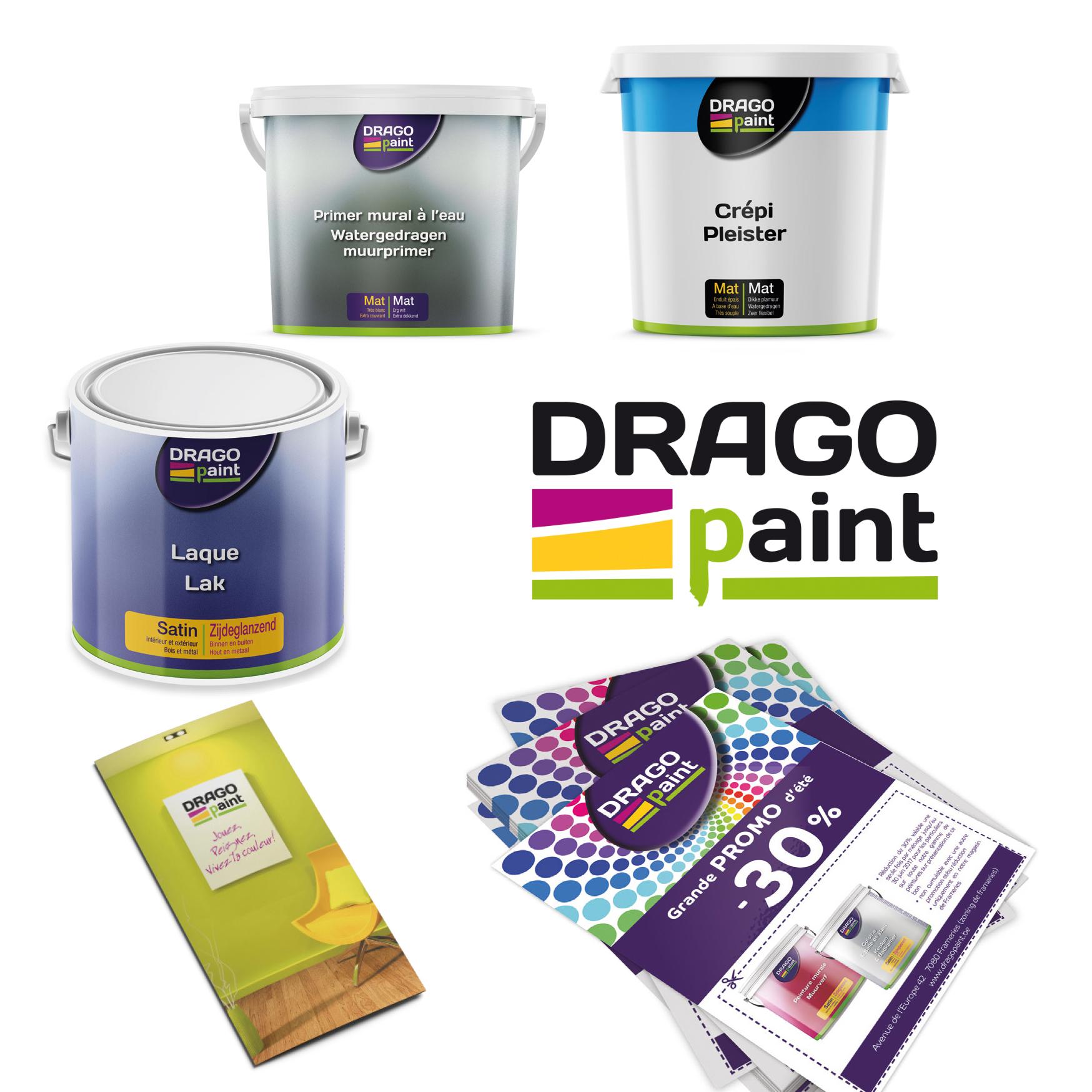 Création et impression de toute la communication et produits DragoPaint